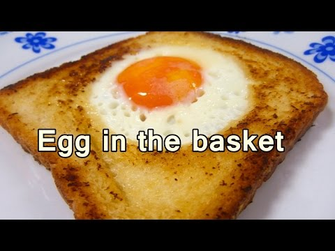 EGG IN THE BASKET - Tasty and easy food recipes for beginners to make at home - Cooking videos