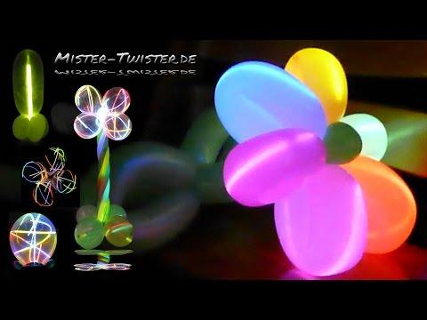 Balloon light flower decoration, Ballon Licht Blume Lichtblume, Dekoration, Party, Silvester