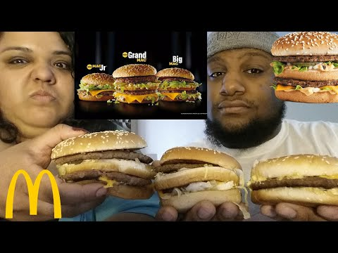 McDonald's Grand Big Mac, Big Mac and Mac jr. Food Review