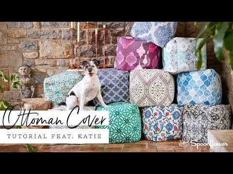 Spruce up your Ottoman with this Beautiful DIY Cover   Spoonflower