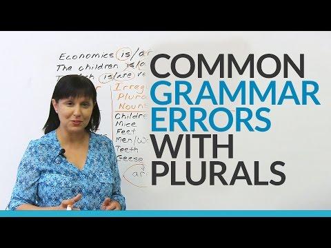 Common English Grammar Errors with Plurals