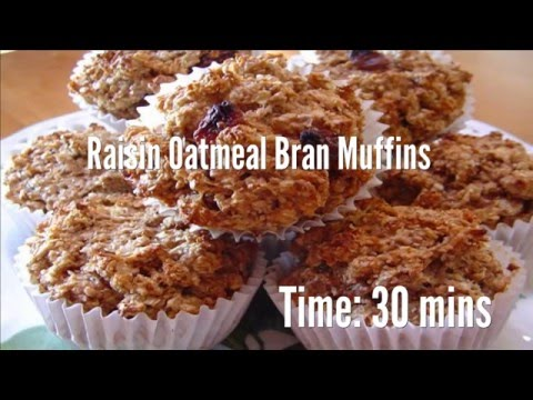 Raisin Oatmeal Bran Muffins Recipe