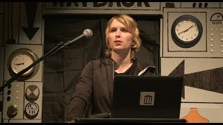 Chelsea Manning at Aaron Swartz Day 2017