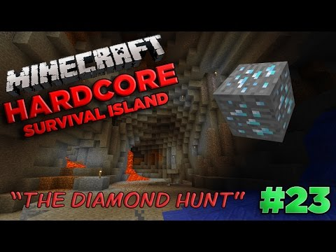 Minecraft Xbox 360 - Hardcore Survival Island Part 23 [LETS PLAY] THE DIAMOND HUNT - W/Commentary