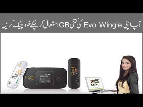 How to Check Ptcl Evo Wingle Data Usage Online 2016