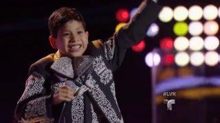 ¡Impactante! Gabriel canta  'Alla en el Rancho Grande' | Audiciones | La Voz Kids 2016