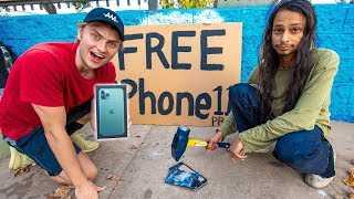 SMASH YOUR PHONE WIN FREE IPHONE 11 PRO!!