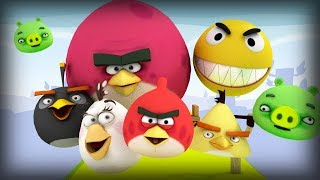 Pacman in Angry Birds world