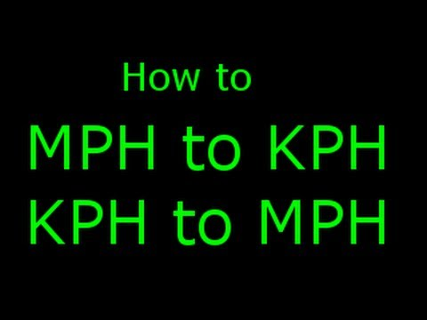 How To Calculate MPH TO KM/H And KM/H To MPH