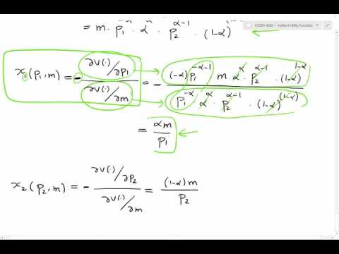Lecture 4 - Roy's Identity and Marshalian Demand