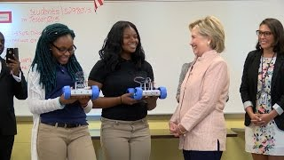 Hillary Clinton campaign stop at Cleveland school puts students in spotlight