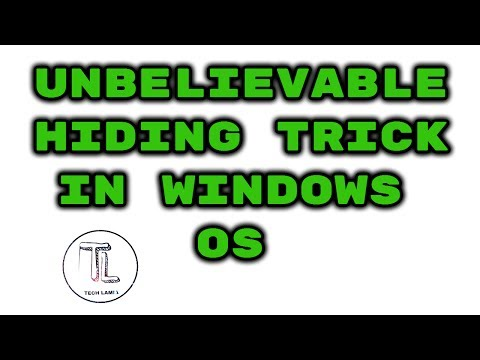 How to hide and unhide a file/folder in Windows Operating System in hindi