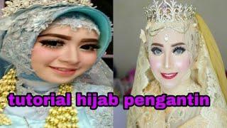 Tutorial Hijab Pengantin simpel dan cantik