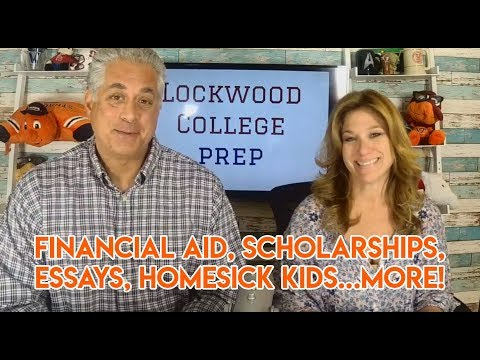 Financial Aid, Scholarships, Essays, Homesick Kids...more!