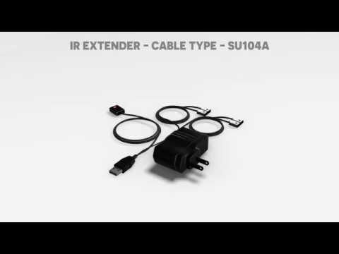 Basic IR Extender for controlling 4 hidden A/V devices in cabinet. Model : SU104A