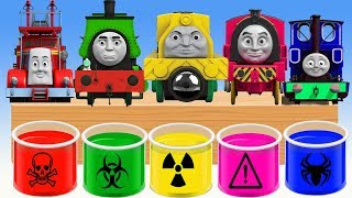 Learn Colors Finger Family Song with Thomas and Friends  Learning Colors Nursery Rhymes For Kids!