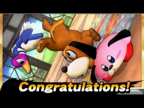 Super Smash Bros. 4 (3DS) - Newcomers Classic Mode - Duck Hunt Dog / Duck Hunt Duo