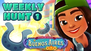 🦄 Subway Surfers Weekly Hunt - Collecting Shiny Horse Shoes in Buenos Aires (Week 1)