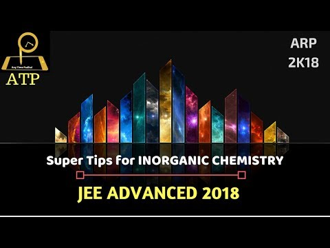 JEE Advanced 2018- Super Tips for Inorganic Chemistry