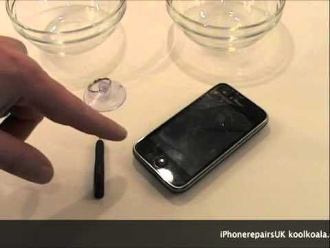 iPhoneRepairsUK.co.uk replace 3G / 3GS Apple iPhone touch screen glass digitiser  Part 1
