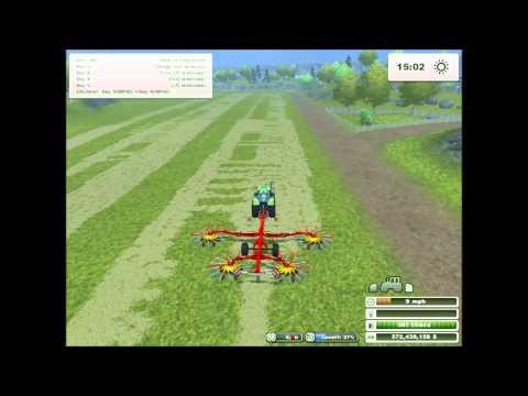 Farming Simulator 2013  -  Bailing Hay