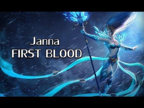 League of Legends   Sometimes you get really unlucky [ Janna First Blood ]