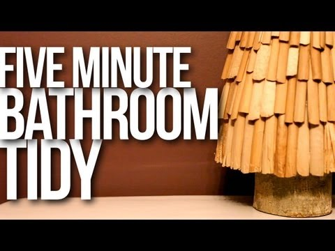 5 Minute Bathroom Tidy! | Day 7 of the 12 Days of Clean - Clean My Space