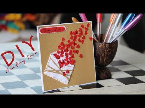DIY Happy Valentines Day 2018 card for (girlfriend | boyfriend | best friend | husband | wife )