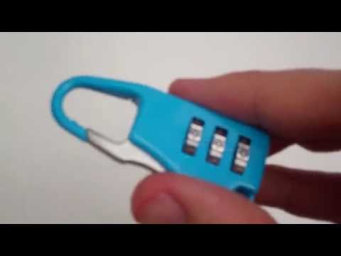 How to Reset a 3 Combination Code Luggage Travel Bag Code Suitcase Security Lock Padlock Review