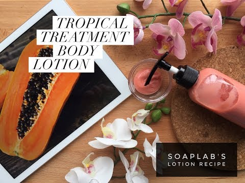How To Make: Natural Skin Lightening Lotion Tropical Treatment Body Lotion