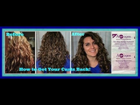 How to Get Your Curls Back | Recovering from Heat and Color Damage | Aphogee Protein Treatment Demo
