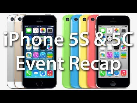 iPhone 5S & 5C Event Recap - Apple September 10th iPhone 5S, iPhone 5C, & iOS 7 Recap