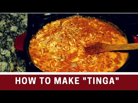 How to make TINGA  Authentic Mexican food   Recipe