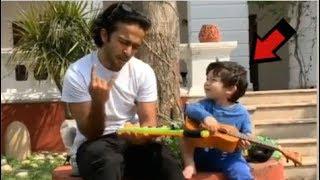 Taimur Ali Khan PLAYING Guitar While Dad Saif Ali Khan Records The Video At Pataudi Palace