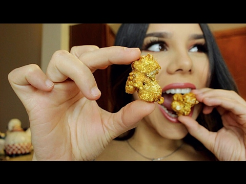 EATING REAL 23K GOLD POPCORN !! Worlds Most Expensive Popcorn!