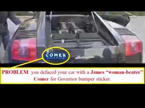 Removing a Comer Bumper Sticker