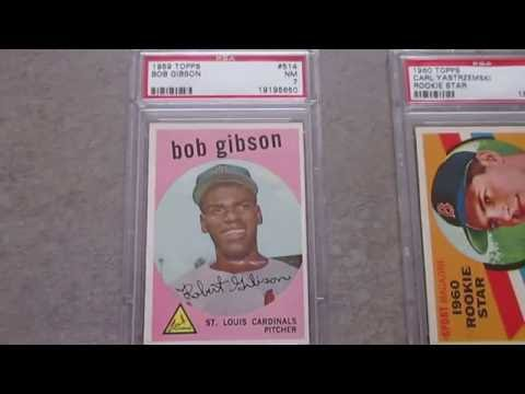 Vintage PSA baseball cards with rising values