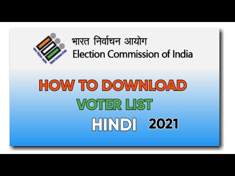 how to download voter  list hindi, how to download voter id hindi