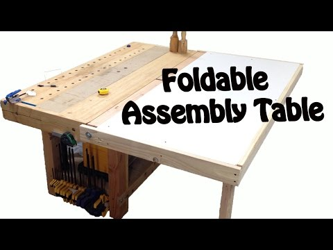 Make a Foldable Assembly table. DIY BUILD