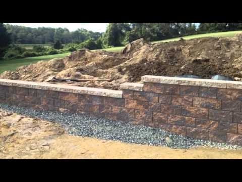 How to Build and Backfill a Block Retaining Wall with Steps