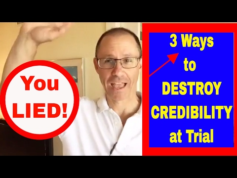 3 Ways to DESTROY a Witness' CREDIBILITY at Trial; NY Malpractice Attorney Gerry Oginski Explains