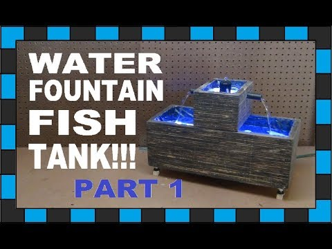 How To Build A Mini Water Fountain Fish Tank!!! // Part One