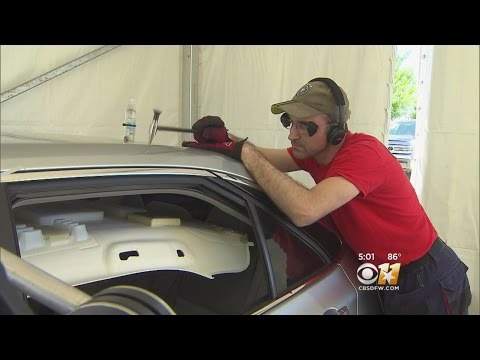 Massive Car Hail Damage Repair Operation Underway
