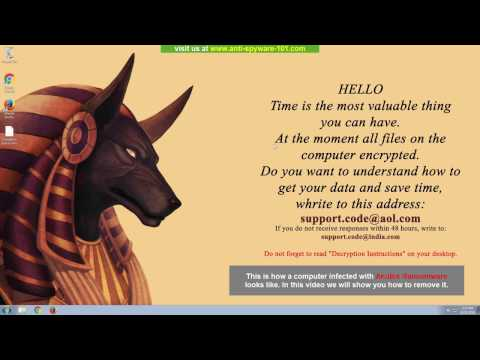 Anubis Ransomware Removal