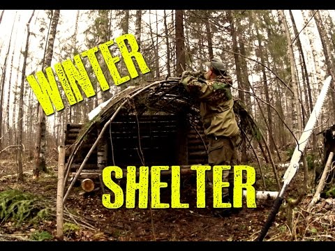 New Winter Camp. Shelter Build