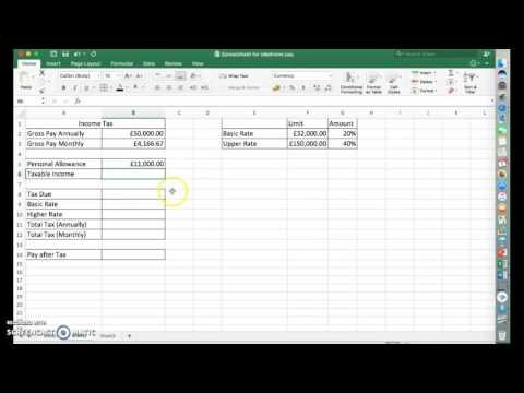 Calculating Income Tax Using Excel - Easy Method