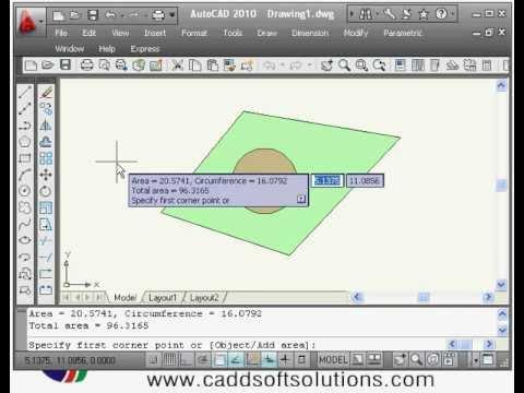 AutoCAD Tutorial - Area Calculation Command