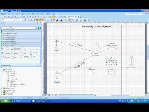 Use Case UML Diagrams: (Example) Understanding & Creating them using Microsoft Visio