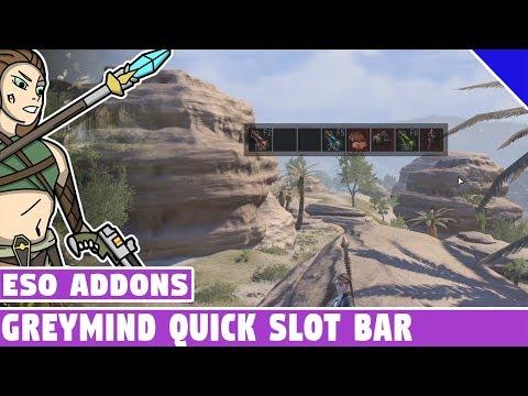Greymind Quick Slot Bar | ESO Addon Spotlight | Elder Scrolls Online Best Addons