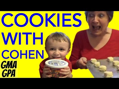 Easter Tradition: Grandma and Grandson Have Fun Making, Decorating, And Eating Pillsbury Cookies